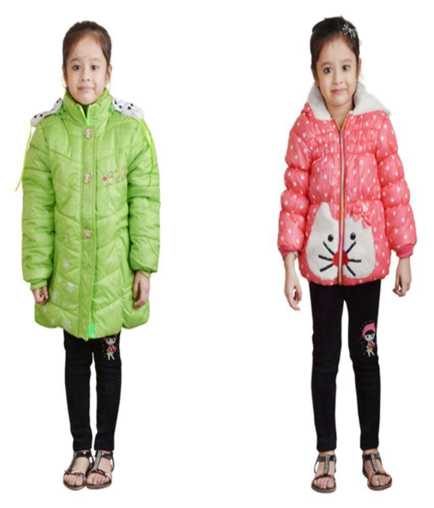 Crazeis Full Sleeves Nylon Jacket - Pack of 2