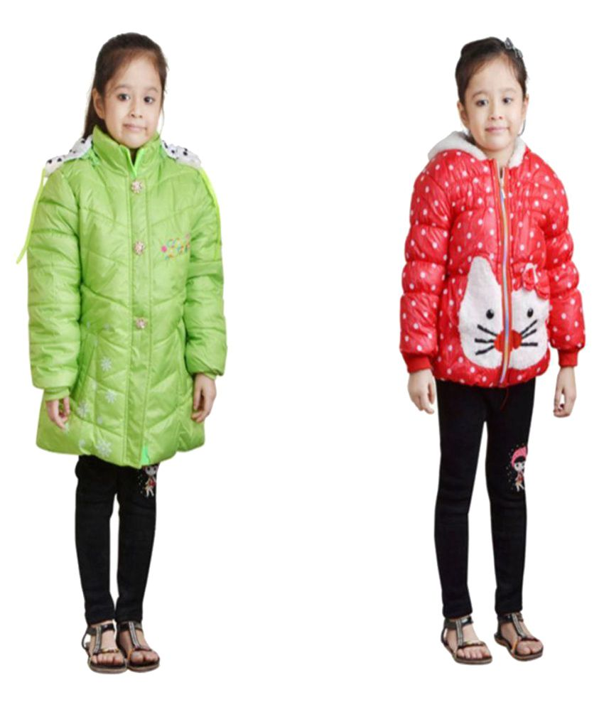 Crazeis Multicolour Hooded Jackets- Pack of 2