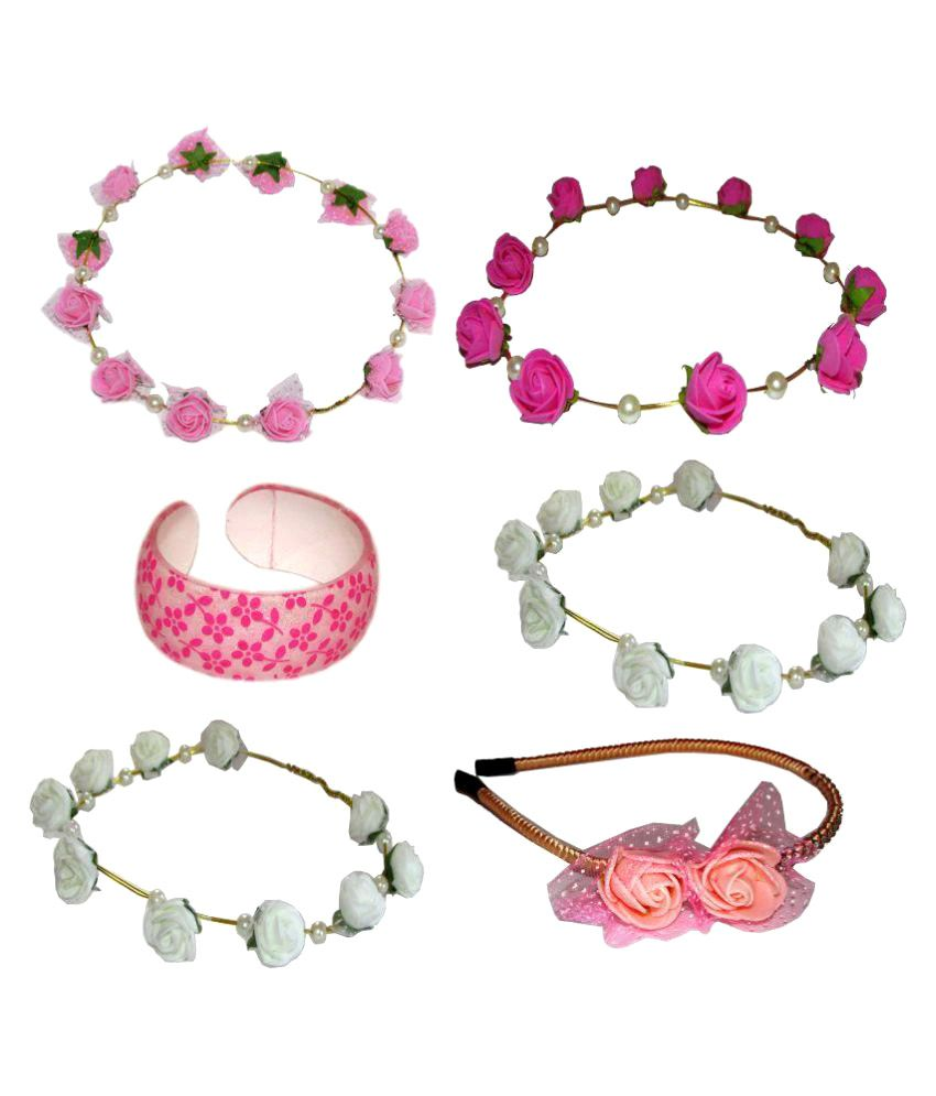 Goodluck Collection Combo of Tiara, Bracelet with Hairband