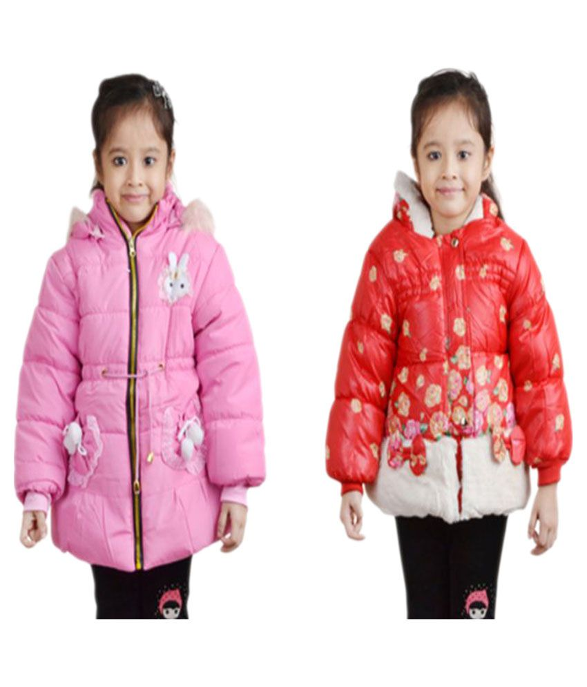 Crazeis Multicolor Nylon Jacket - Pack of 2