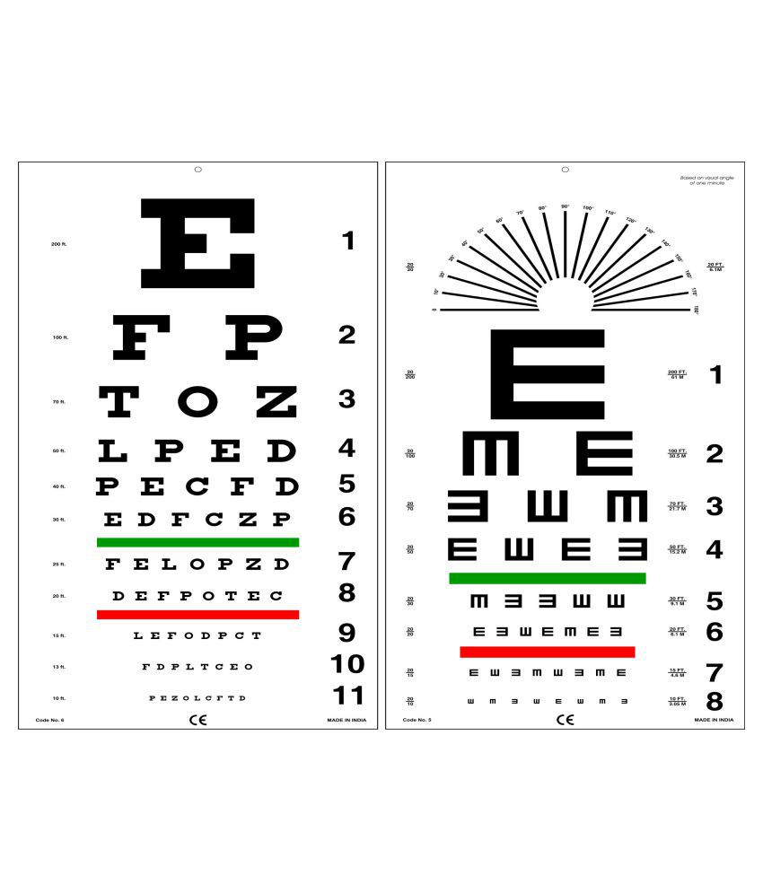 Edulab Kindergarten Eye Chart With Color Symbols Online At Best Price In India Snapdeal