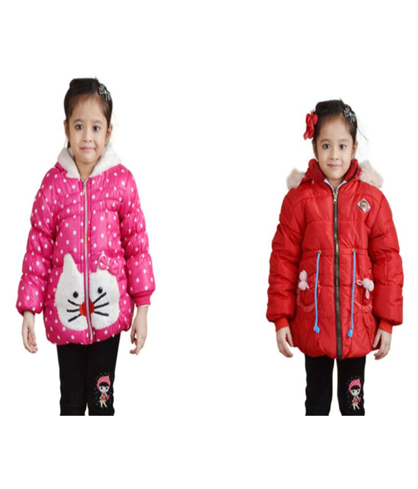 Crazeis Multicolor Nylon Jackets - Pack of 2