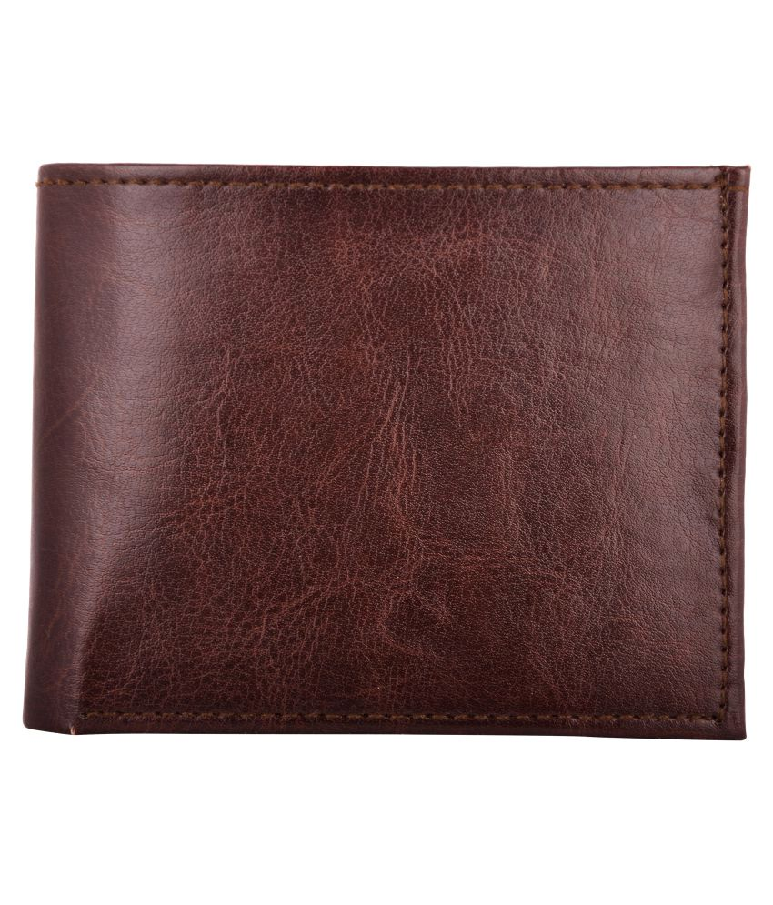 Exotique Faux Leather Brown Casual Regular Wallet