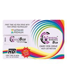 Crystal Digital CDCPD8G 8GB USB 2.0 OTG Pendrive White