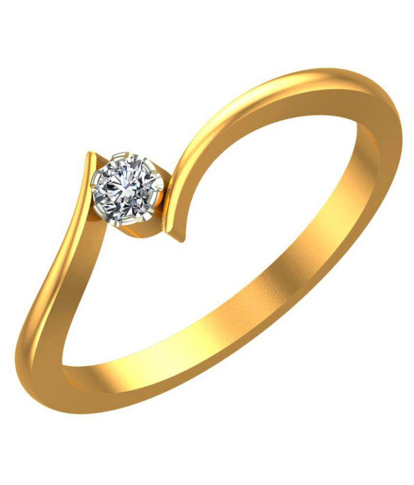 Al Gelani Jewellers 18k Gold Diamond Ring