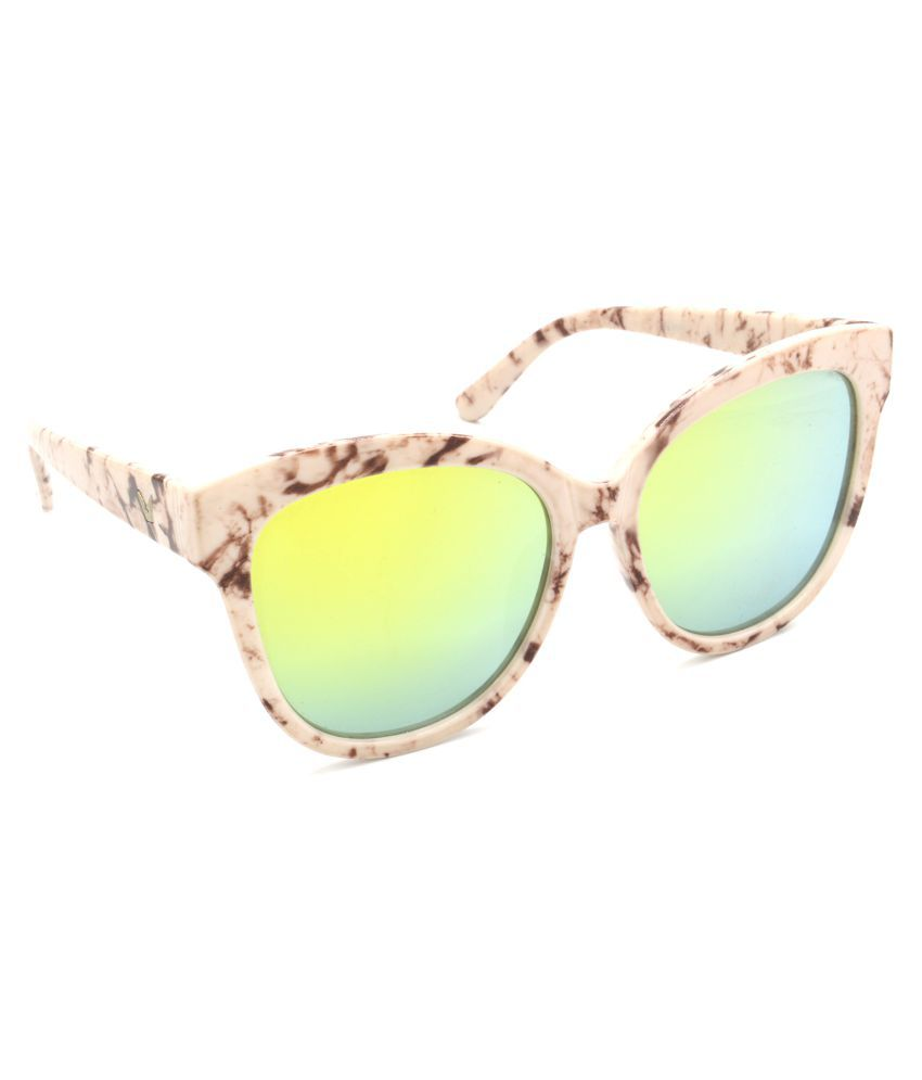 Hrinkar Multicolor Cat Eye Sunglasses ( HRS321-WT-GRP )