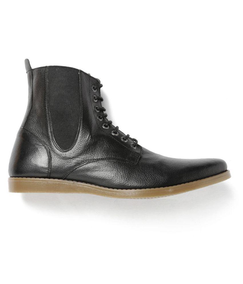 Roadster Black Chelsea boot