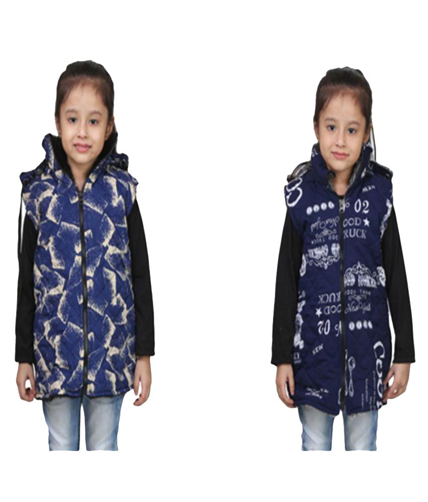 Qeboo Blue Nylon Jackets - Pack of 2