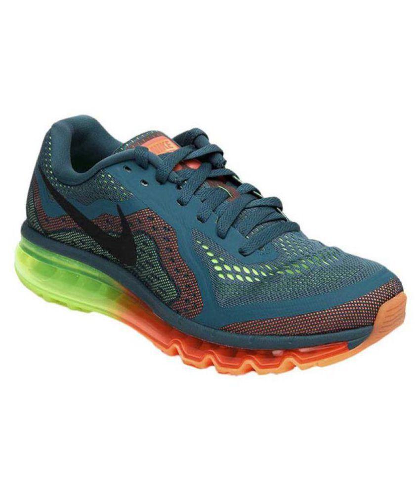 Nike Airmax 2014 Green Running Shoes