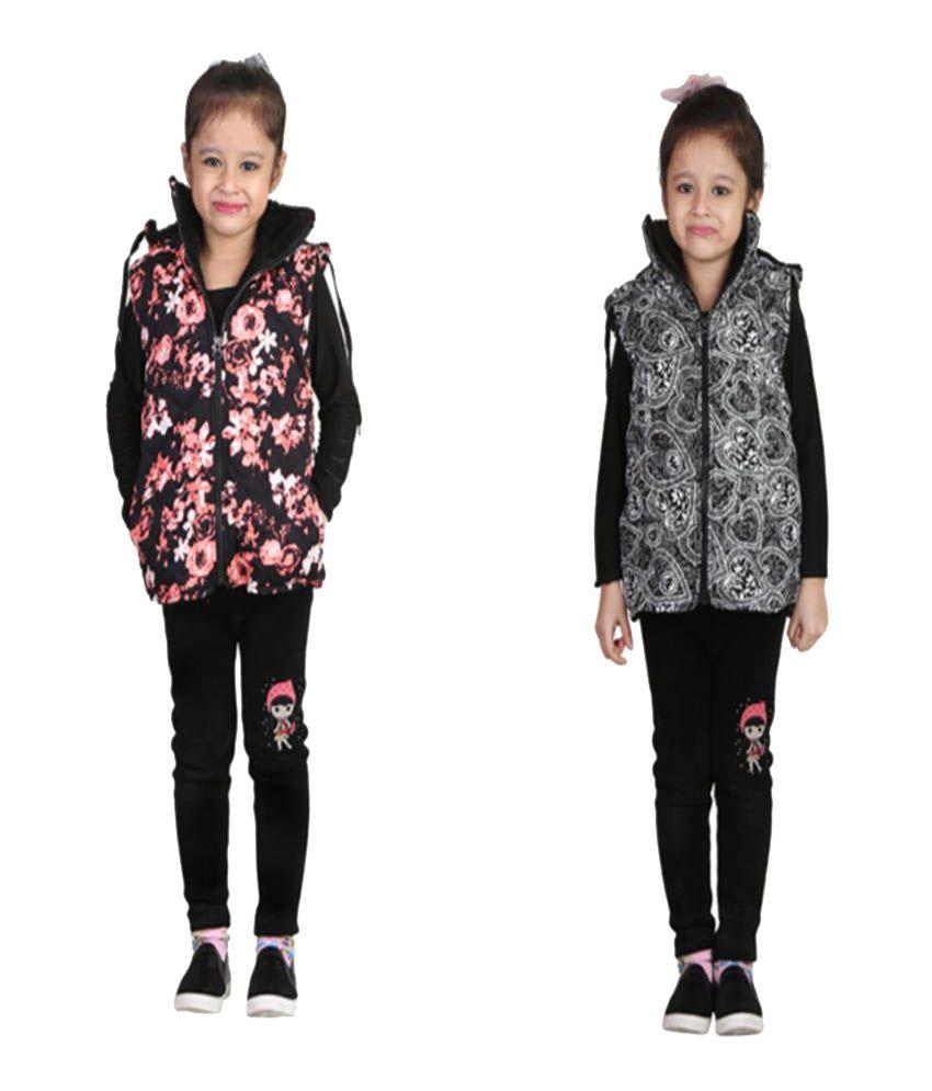 Qeboo Combo Of Multicolour Jacket For Girl's