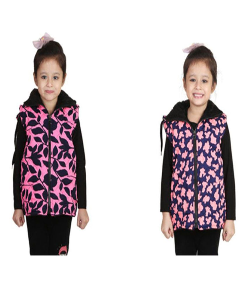 Crazies Multicolour Light Weight Jacket for Girl's - Pack of 2