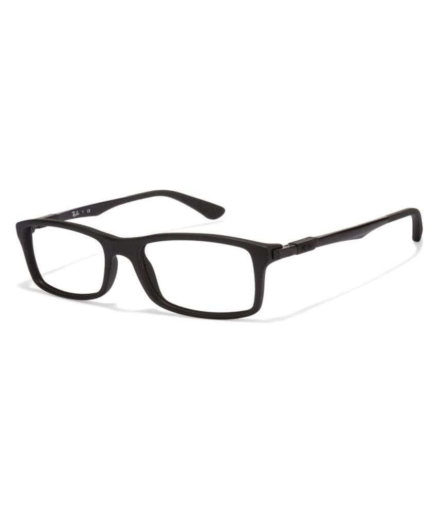 45cd2c23e58 Ray-Ban Black Rectangle Spectacle Frame RX-7017-5196-54 - Buy Ray-Ban Black  Rectangle Spectacle Frame RX-7017-5196-54 Online at Low Price - Snapdeal