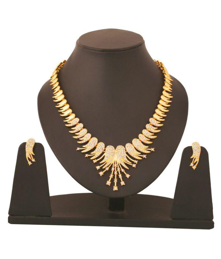 Touchstone Golden Alloy Necklace Set