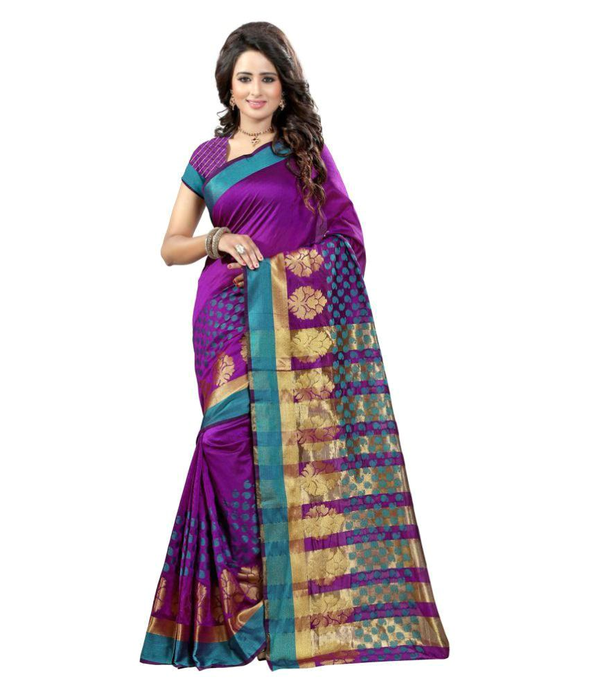 Ladies Flavour Purple Tussar Silk Saree
