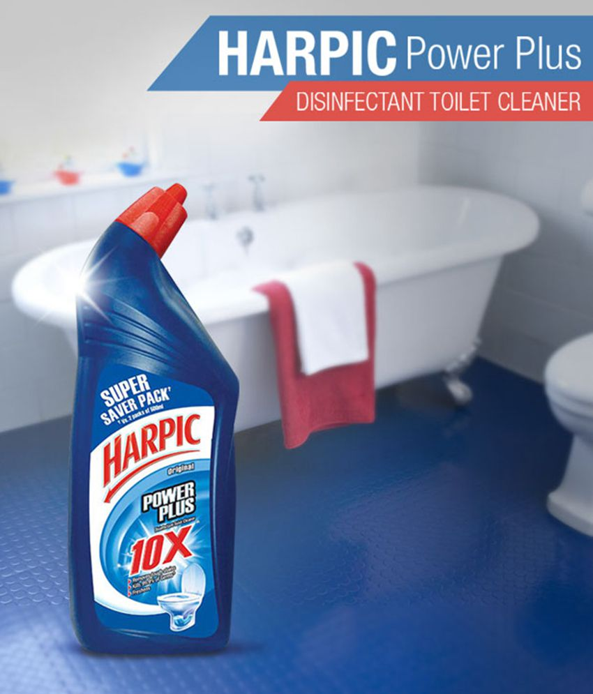 Harpic Power Plus Disinfectant Toilet Cleaner, Original ...
