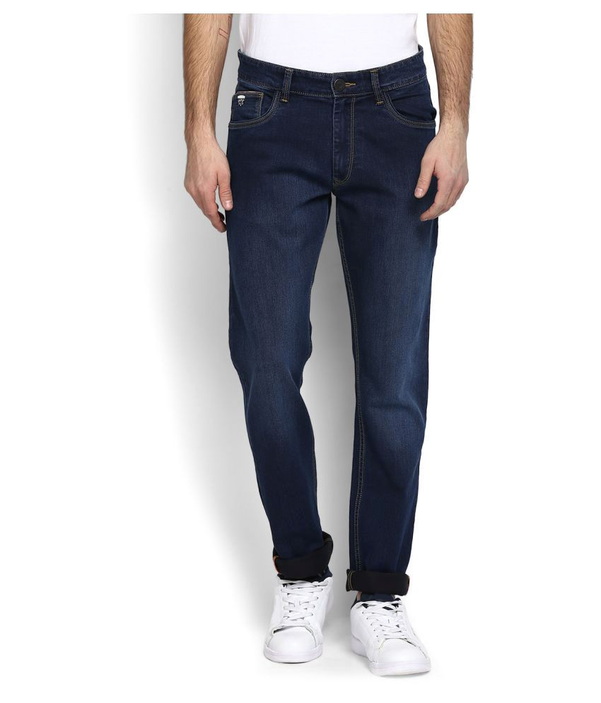John Players Indigo Blue Slim Jeans