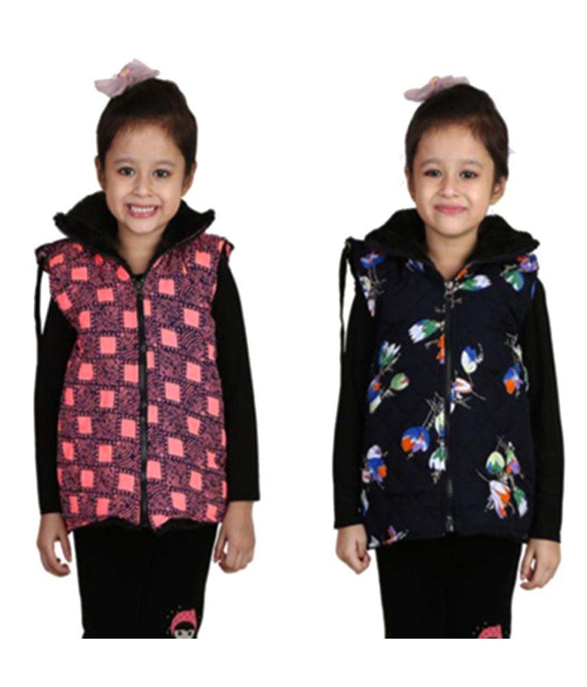 Qeboo Multicolor Half Jacket - Pack of 2