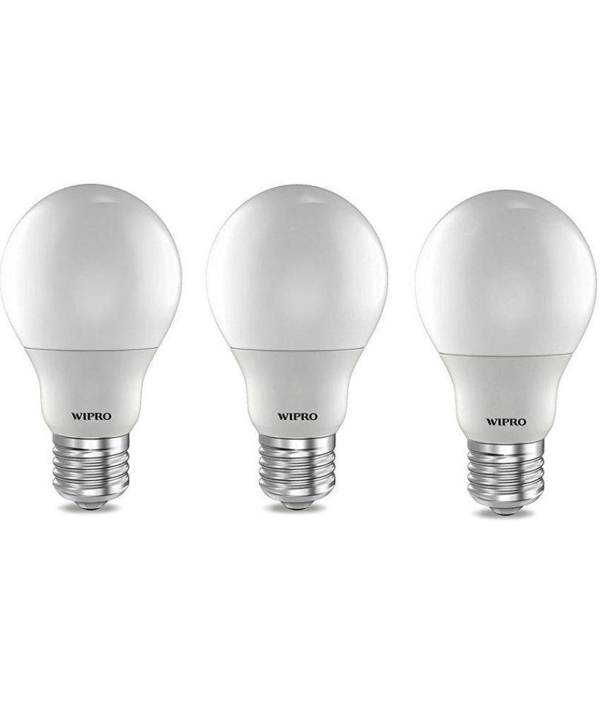 Wipro 3W Pack of 3 Led Bulbs - Warm White