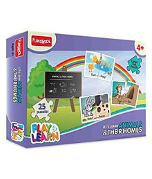 Funskool Play And Learn Animals And Their Homes - Multi Color