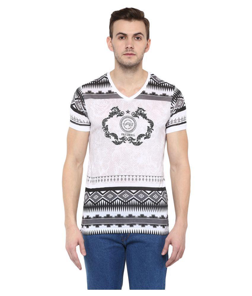 Fritzberg White V-Neck T-Shirt