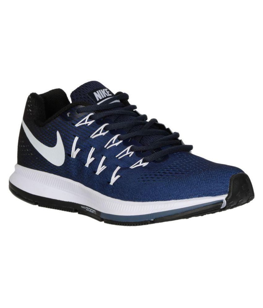 f94867557c49 Nike Zoom Pegasus 33 Blue Running Shoes available at SnapDeal for Rs.3638