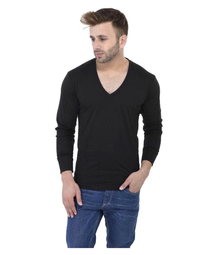 Vivid Bharti Black V-Neck T-Shirt