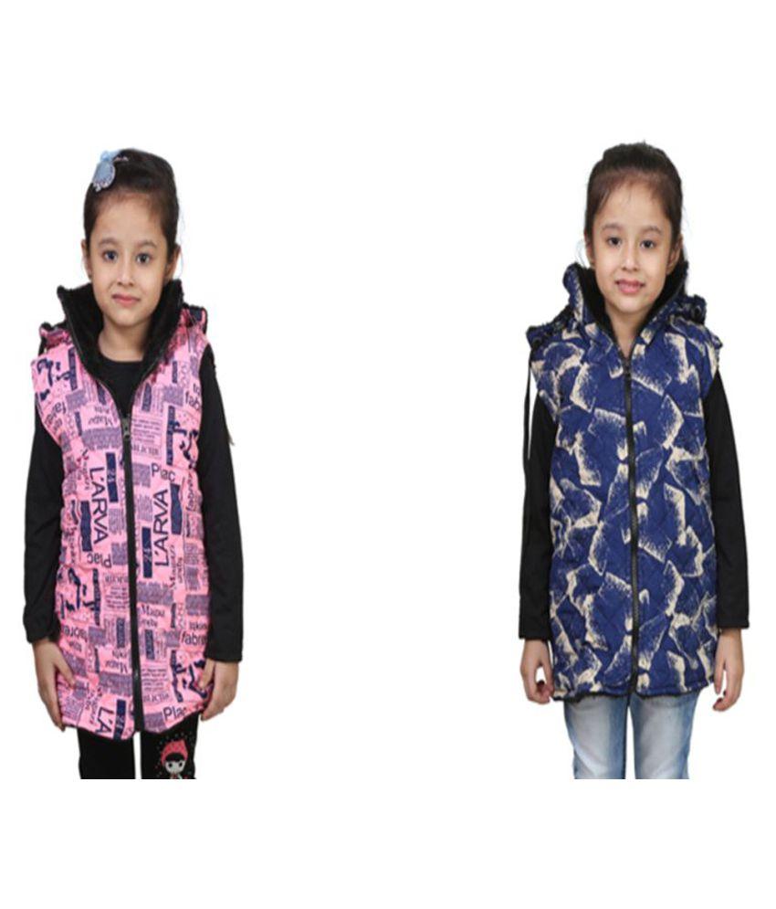 Qeboo Multicolor Nylon Jackets - Pack of 2