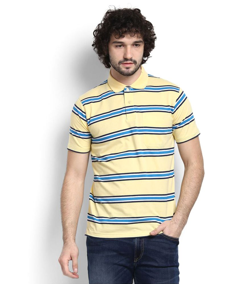 Proline Yellow Cotton Polo T-shirt
