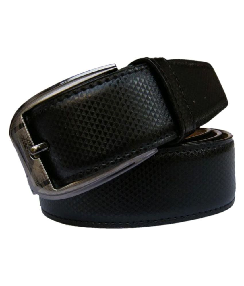 Unifashionat Black PU Formal Belts