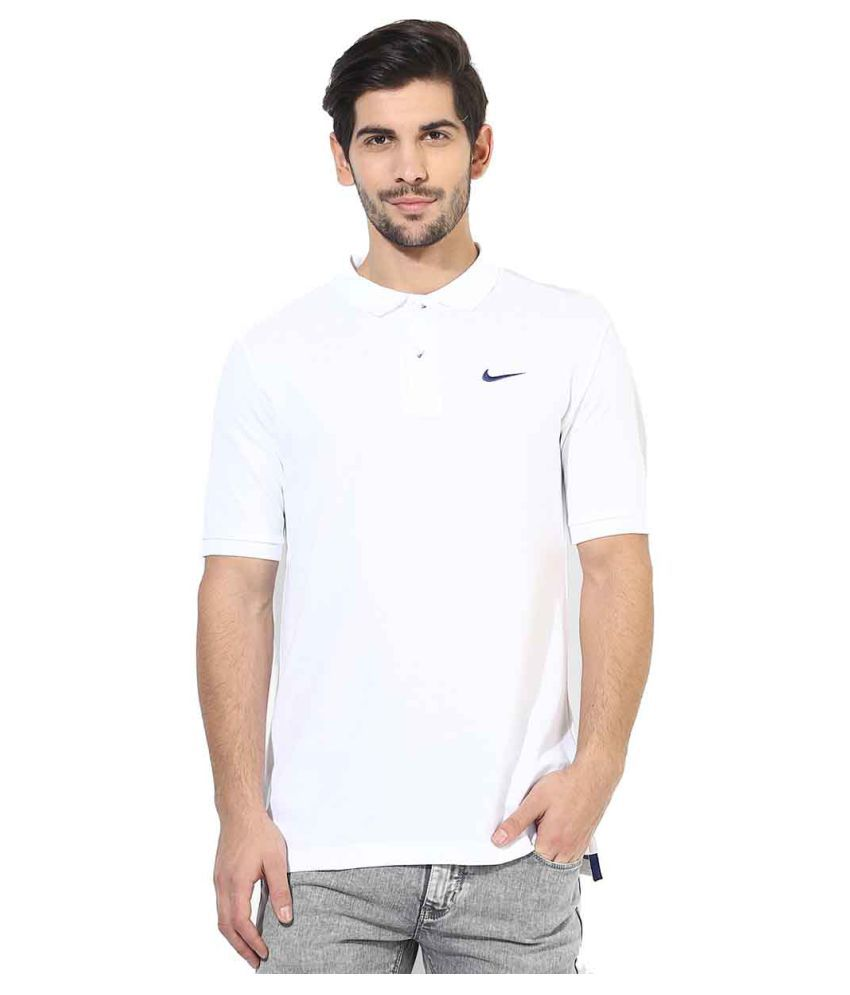 Nike Men's Polo T-Shirt - White