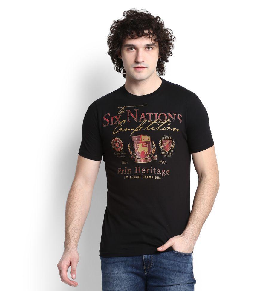 Proline Black Cotton T Shirt