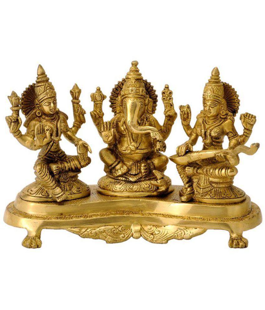 Redbag Laxmi Ganesh Brass Idol