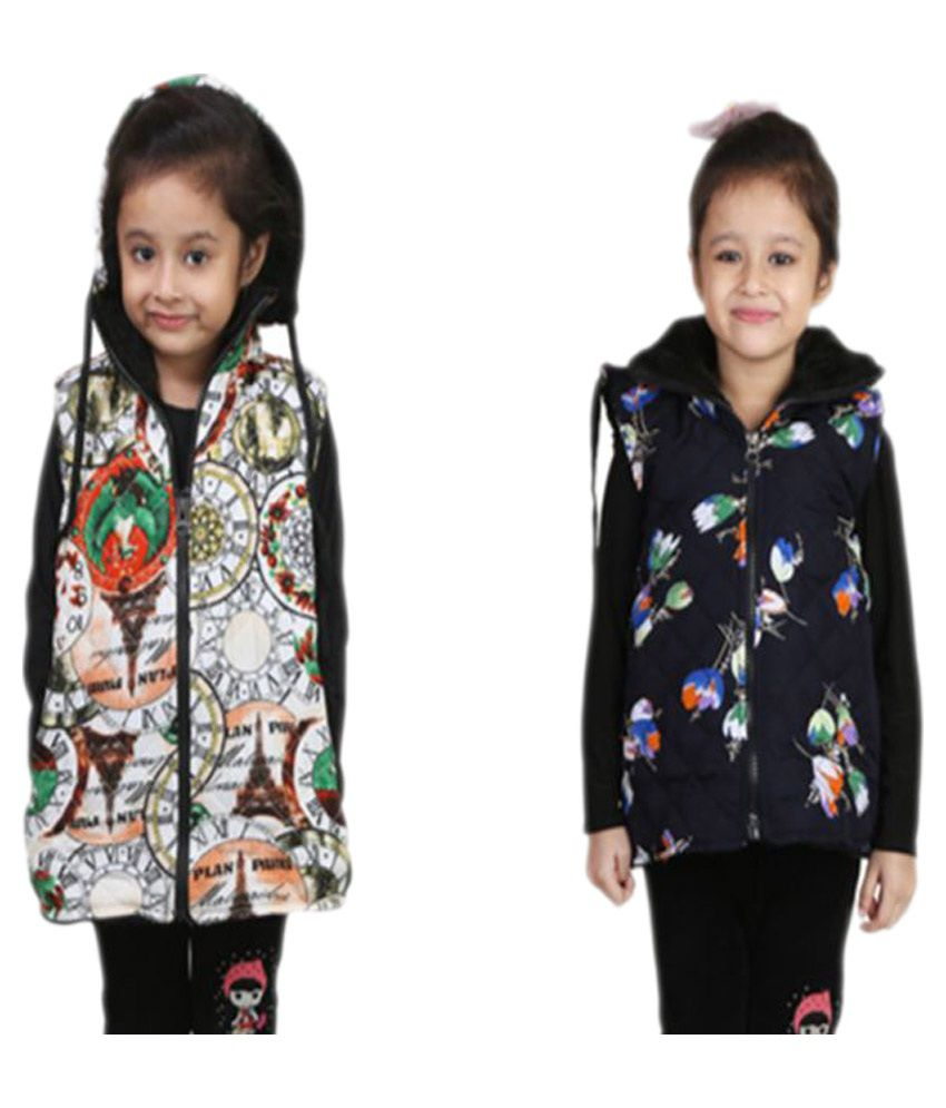 Qeboo Multicolor Nylon Jacket - Pack of 2