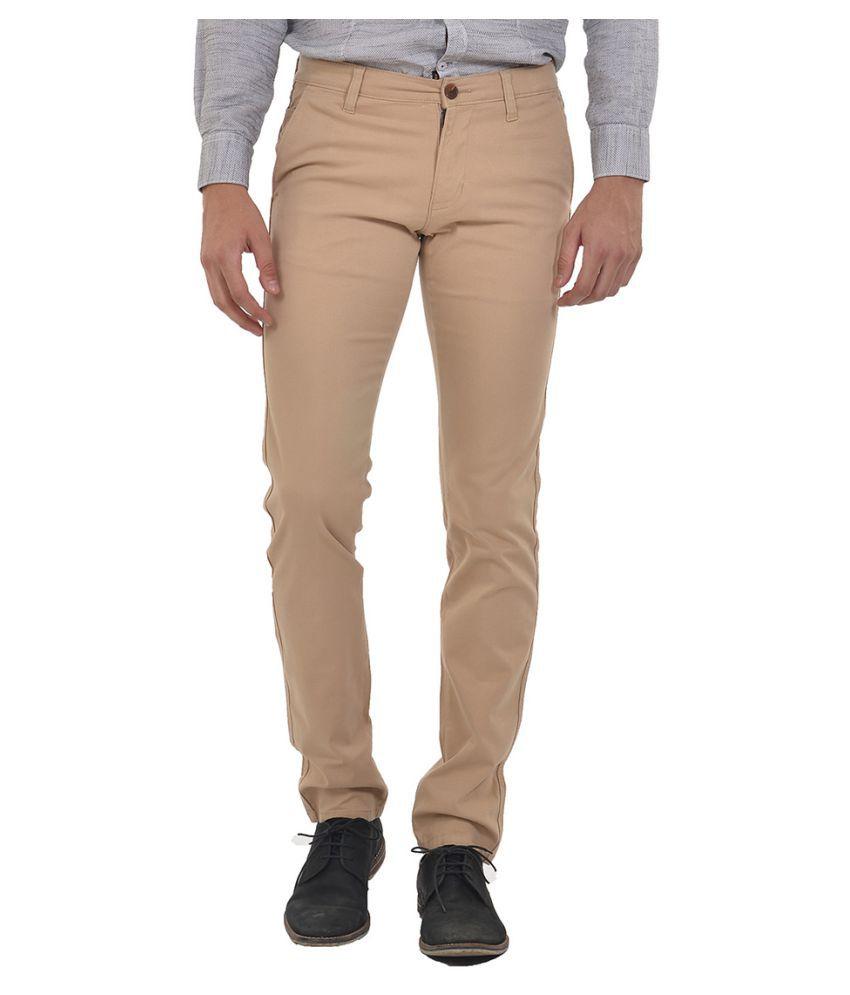 Klub Fox Brown Regular Flat Trousers