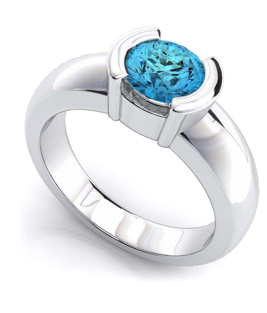 Naitik Jewels 92.5 Silver Cubic zirconia Ring