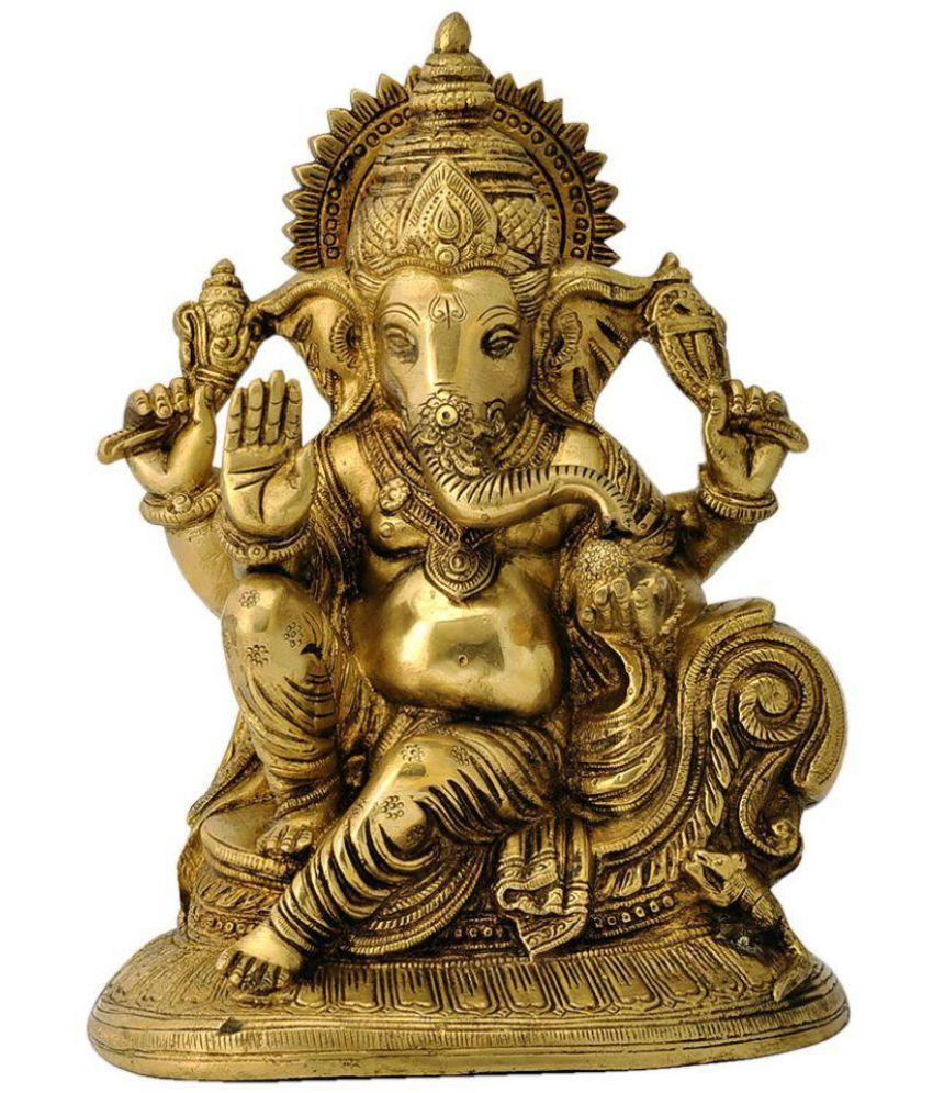 Redbag Ganesha Brass Idol