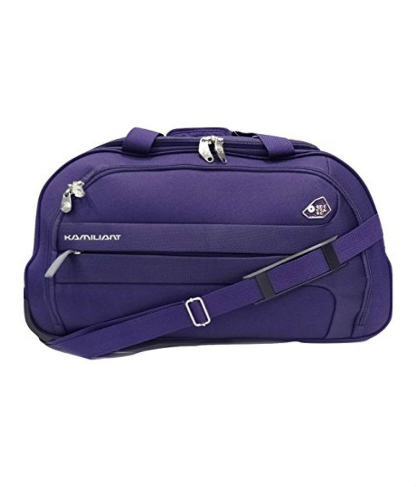 1d7193132fc Kamiliant Purple Solid Duffle Bag - Buy Kamiliant Purple Solid Duffle Bag  Online at Low Price - Snapdeal