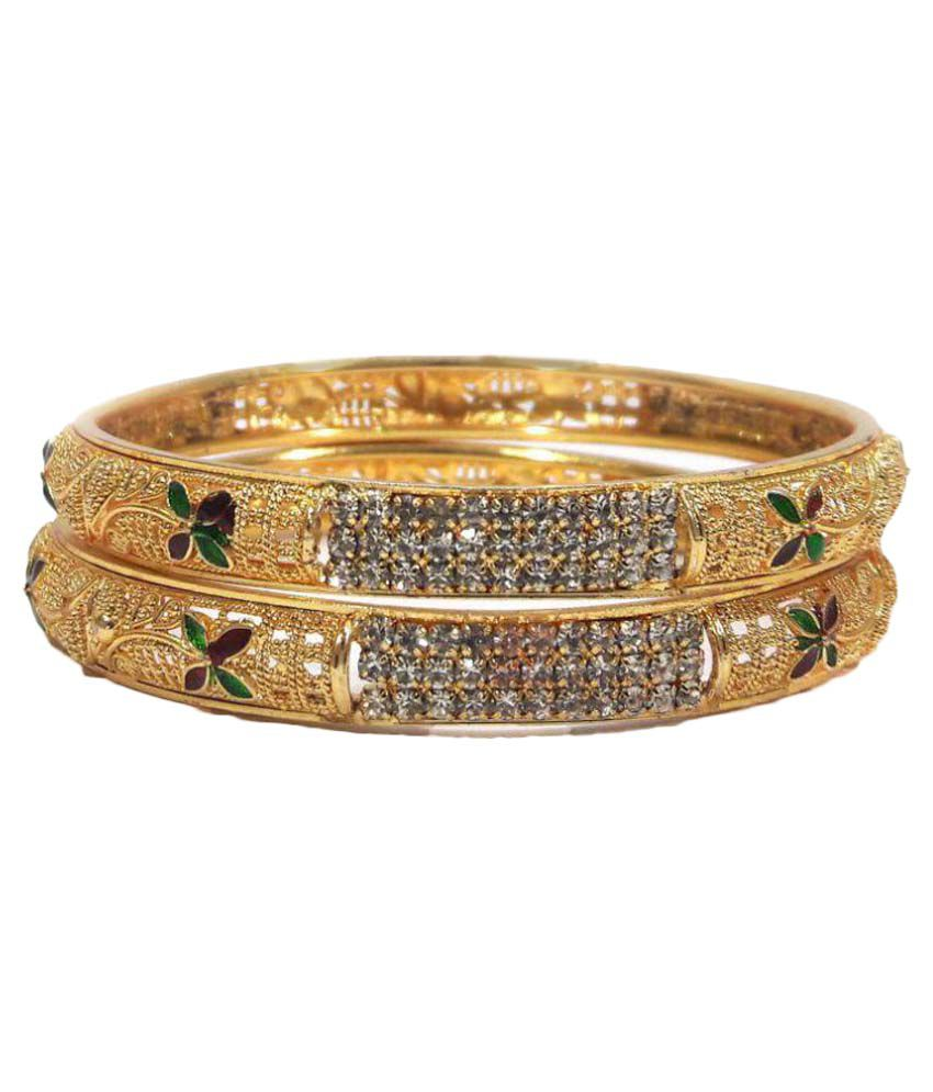 Ambika Bangles Multicolor Pair of Kada