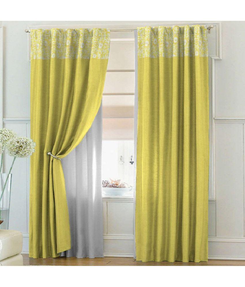 Solaj single door rod pocket curtains printed beige