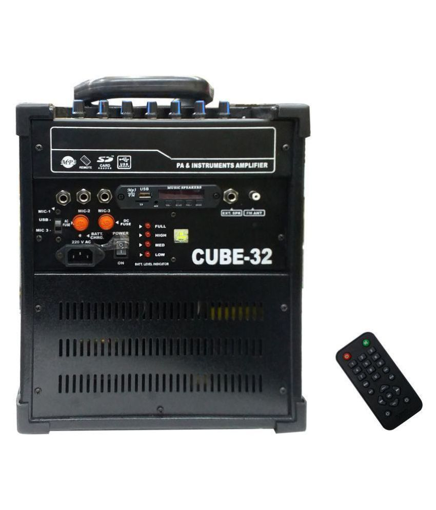 techwich cube 32 multimedia music system with speaker