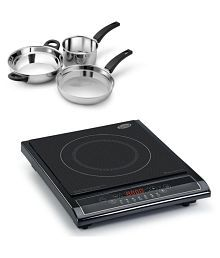 Glen Kitchen Induction Cooker 3071 + Alda Stainless Steel Gift Set - 3 pcs ( Combo)