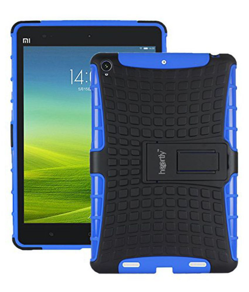 Heartly Flip Kick Stand Spider Hard Dual Rugged Armor Hybrid Bumper Back Case Cover For Xiaomi Miui Mi Pad 7.9 - Power Blue