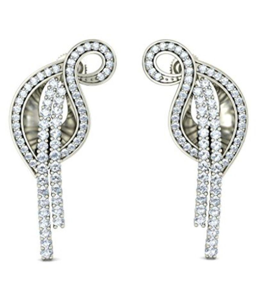 BlueStone White Gold and Diamond Drop Earrings