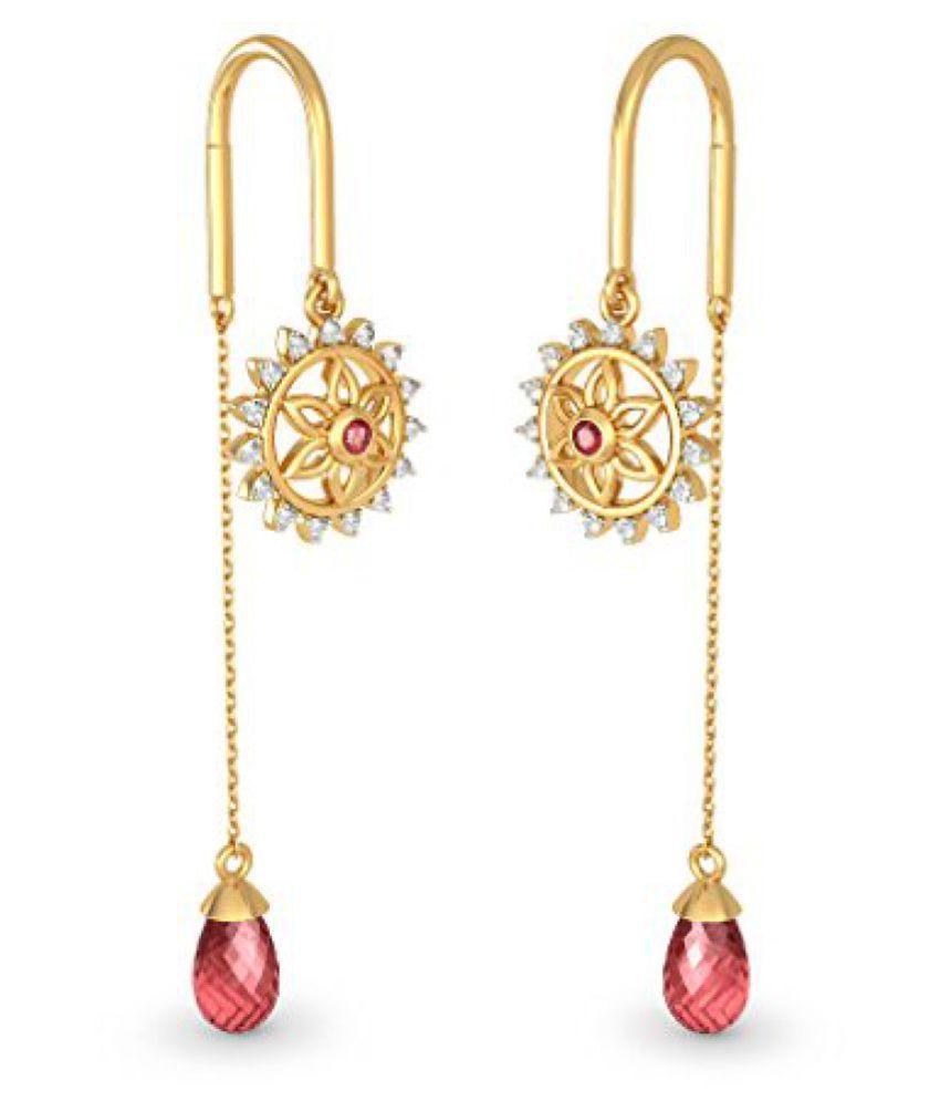 BlueStone Yellow Gold and Diamond Drop Earrings