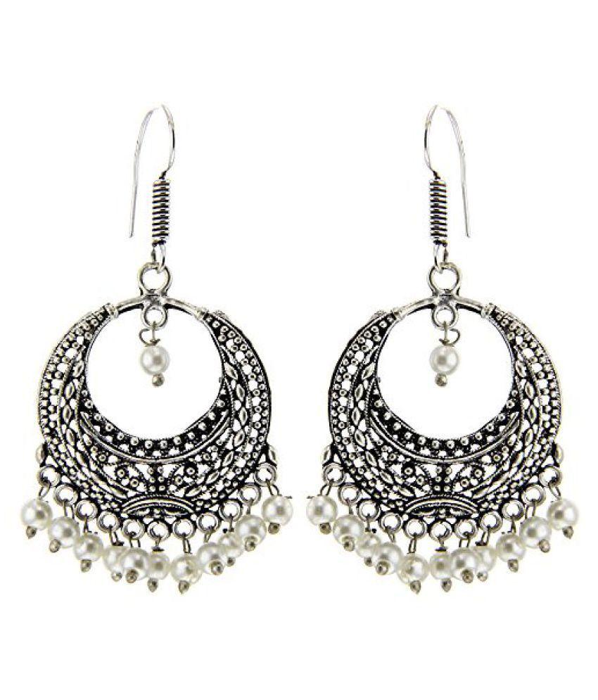 Kaizer Jewelry German Silver Hanging Earrings