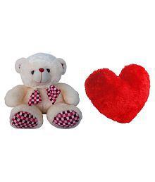 Advance Hotline Big Teddy Bear With Big Red Heart - 40 Cm