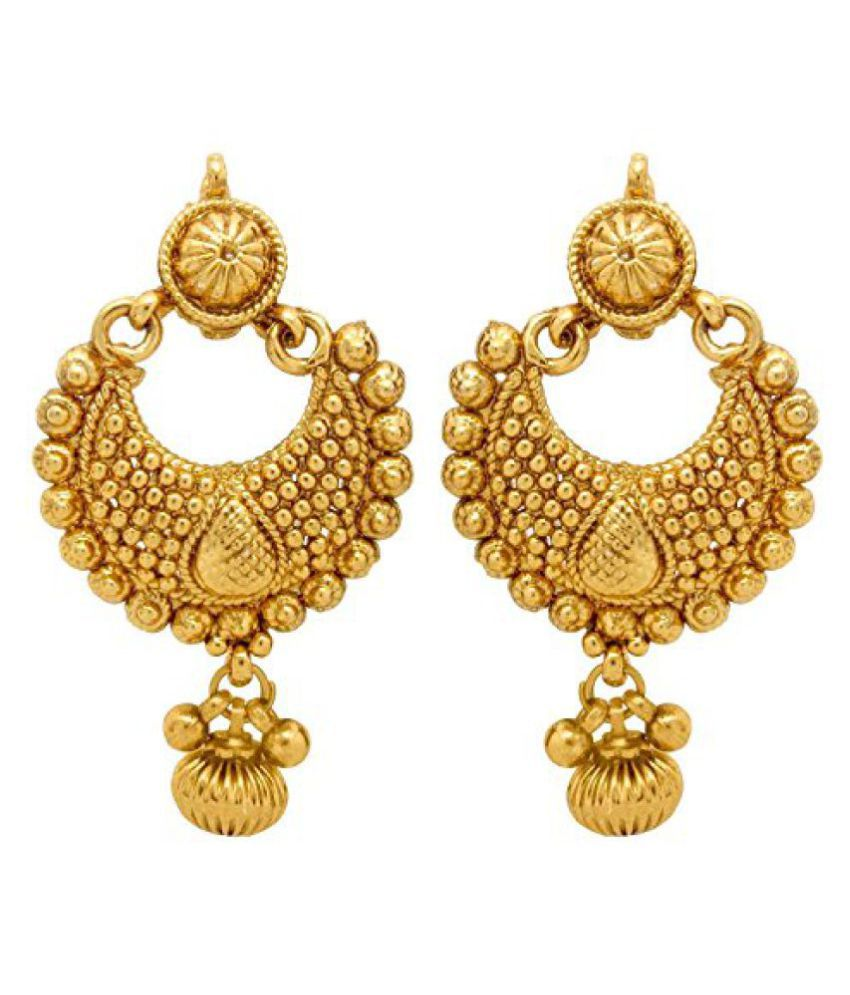 8bb30b1fd YouBella Jewellery Gold Plated Fancy Party Wear Earrings for Girls and Women  - Buy YouBella Jewellery Gold Plated Fancy Party Wear Earrings for Girls  and ...