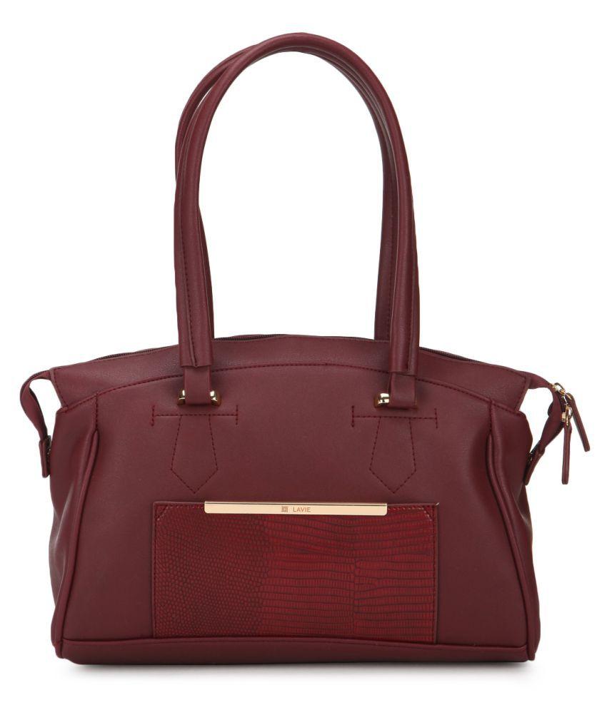 Lavie Red P.U. Shoulder Bag