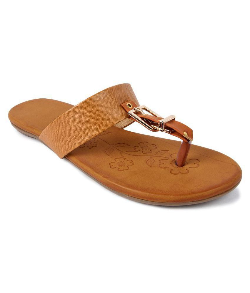 Bapu Beta Tan Flats