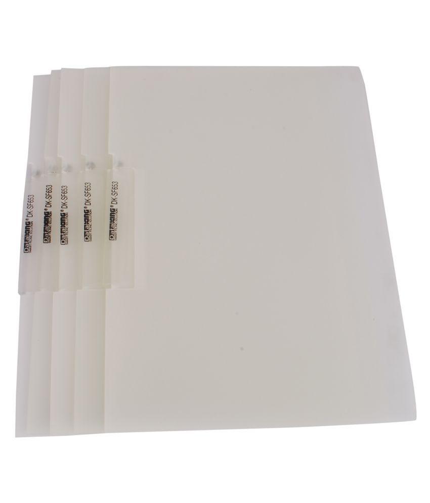 Dataking White File Folders - Set of 5
